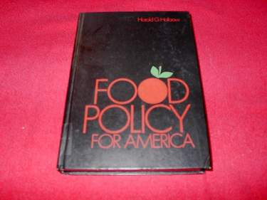 Image for Food Policy for America