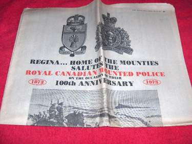 Image for The Leader-Post : A Century in Scarlet [RCMP]; May 22, 1973