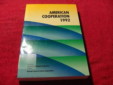 Image for American Cooperation [1992]