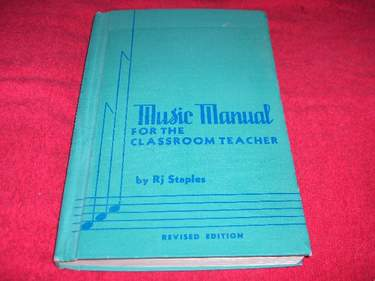 Image for Music Manual for the Classroom Teacher