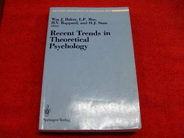Image for Recent Trends in Theoretical Psychology: Proceedings of the Second Biannual Conference of the International Society for Theoretical Psycholgy