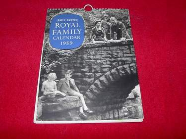 Image for Daily Sketch Royal Family Calendar 1959