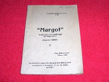 Image for Margot : Comedie Canadienne En Trois Actes [Deuxieme Edition]