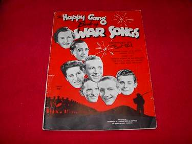 Image for The Happy Gang Book of War Songs [Pearl, Bert; Bartlett, Hugh; Stokes, Kathleen; Farnon, Bob; Mathe, Blaine; Allen, Eddie]