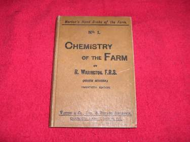 Image for The Chemistry of the Farm [Number 1] : Morton's Handbooks of the Farm