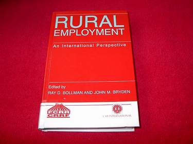 Image for Rural Employment : An International Perspective