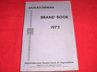 Image for Saskatchewan Brand Book : 1972