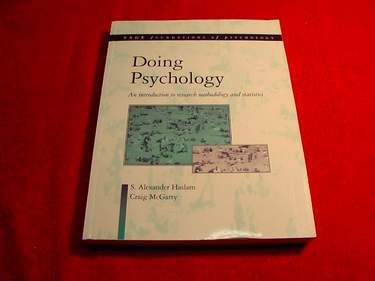 Image for Doing Psychology : An Introduction to Research Methodology and Statistics