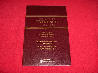 Image for The Law of Evidence in Canada [Second Edition Supplement Prepared By Sidney N. Liderman and Alan W. Bryant]