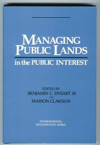 Image for Managing Public Lands in the Public Interest