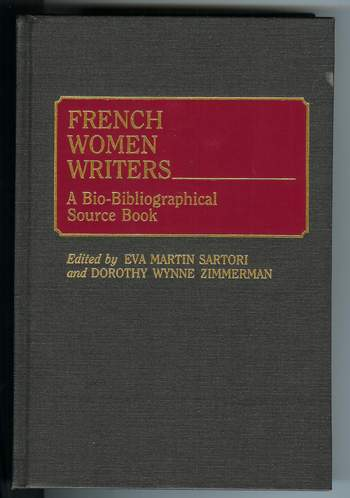 Image for French Women Writers : A Bio-Bibliographical Source Book