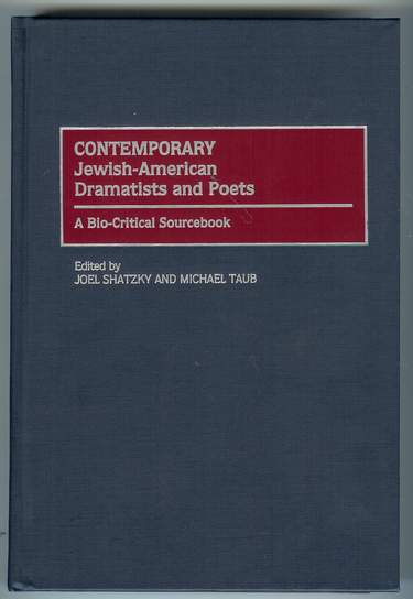 Image for Contemporary Jewish-American Dramatists and Poets : A Bio-Critical Sourcebook