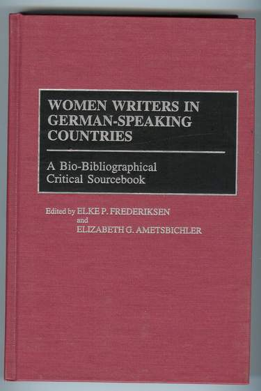 Image for Women Writers in German-Speaking Countries : A Bio-Bibliographical Critical Sourcebook