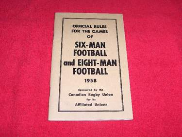 Image for Official Six-Man and Eight-Man Rugby Football Rule Book [1958]