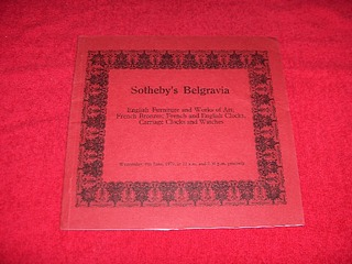 Image for Sotheby's Belgravia Auction Catalogue : English Furniture and Works of Art; French Bronzes; French and English Clocks, Carriage Clocks and Watches [June 6, 1979]