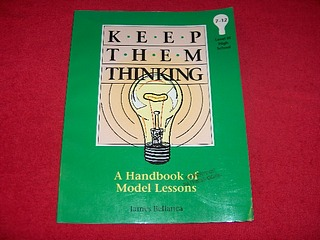 Image for Keep Them Thinking, Level III: A Handbook of Model Lessons