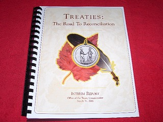 Image for Treaties : The Road to Reconciliation : Interim Report, Office of the Treaty Commissioner, March 31, 2006