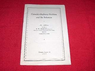 Image for Canada's Railway Problem and Its Solution : An Address