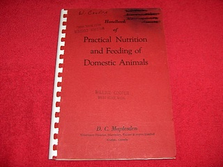 Image for Practical Nutrition and Feeding of Domestic Animals