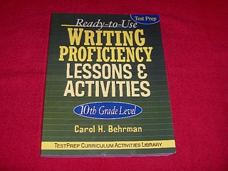 Image for Ready-To-Use Writing Proficiency Lessons & Activities: 10th Grade Level