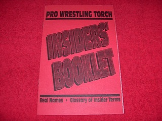Image for Pro Wresting Torch : Insiders' Booklet : Real Names, Glossary of Insider Terms